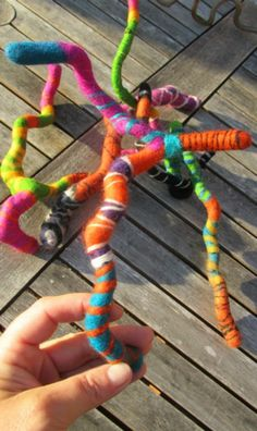 felted sticks