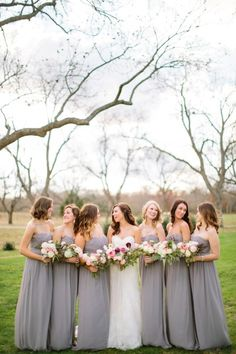 Lovely bridesmaids: http://www.stylemepretty.com/texas-weddings/2015/04/06/romantic-texas-winter-wedding/ | Photography: Tucker Images - http://www.tuckerimages.com/