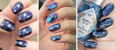 12 ideas for New Year's Eve nails art from glitter to broken glass ...