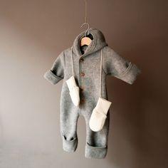 Wool Overall, organic - grey — Betón