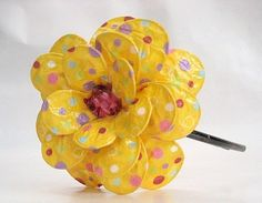 Happy Giant Paper Mache Flowers Wshort Tutorial Paper Mache Art