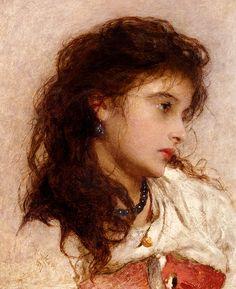 George Elgar Hicks : A Gypsy Girl