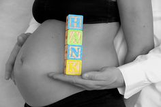 Sweet maternity photo. Great shot for shower invitations