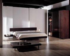 modern black bedroom from bed room design iPhone app