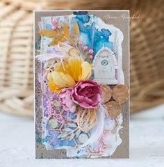 "So gorgeous with lots of luscious layers and colors. Prior pin ""Spring card - Scrapbook.com"""