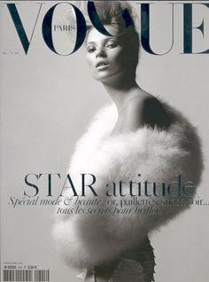Kate Moss / Vogue Paris March 2004 Cover by David Sims Vogue Magazine Covers, Fashion Magazine Cover, Fashion Cover, Vogue Covers, Kate Moss, Vogue Paris, David Sims, Foto Fashion, Vogue Fashion