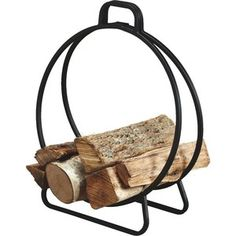 """Perfect for porch, patio, or hearthside. 100% galvanized square tubular steel. Assembled size 20"""" in diameter. Baked-on black polyurethane ..."""