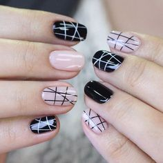 Easy Nail Designs for Short Nails with Stripes picture 1