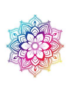 Note: Inspir K💜 a geometric figure representing the universe in Hindu and Buddhist symbolism Blue Mandala by adjsr Mandala Art, Mandala Bleu, Design Mandala, Mandala Drawing, Colorful Mandala Tattoo, Mandala Throw, Mandala Canvas, Henna Designs, Tattoo Designs