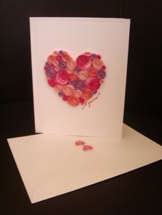 Quilling pink heart from www.universodepapel.es