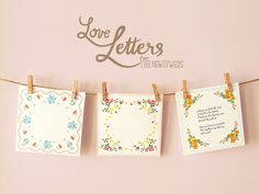 Vintage Hanky Love Letters. Free printables from Eat Drink Chic: http://www.eatdrinkchic.com/post.cfm/diy-wedding-hanky-love-letters