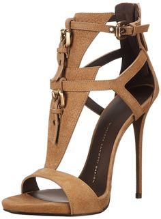 Giuseppe Zanotti Women's Dress Sandal, Sbuff Taupe, 7 M US