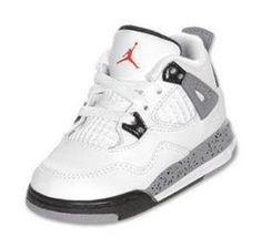 The classic Jordan Retro 4 is one of the highest rated shoes, and the cement colorway makes this retro a must have. The shoe was originally released in 1989 and was an instant hit. Features full grain leather upper, mesh quarter panels PU and solid rubber Cute Baby Shoes, Baby Boy Shoes, Boys Shoes, Baby Boy Outfits, Women's Shoes, Kids Outfits, Ladies Shoes, Converse Shoes, Shoes Women