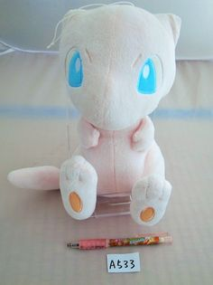 Banpresto Novelty Pokemon I LOVE MEW Plush Doll.with the bonus item From Japan…