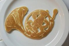 Pancake French horn. i dont think i could eat it because this is really cool!!