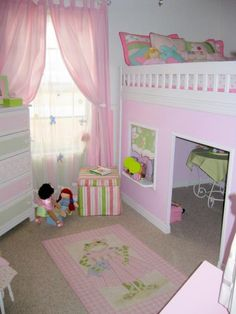 This is about the size of the kids' room as well so you can see how it would fit  Playhouse loft bed | Do It Yourself Home