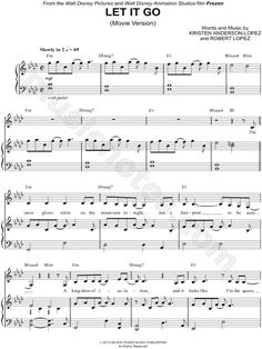 Let It Go (Movie Version) From Frozen - Digital Sheet Music @Laura Jayson Jayson Jayson Jayson Jayson Mcfarlane R