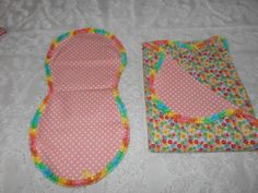 Flowers and Poke-a-dot Receiving Blanket and Burp Cloth by TheRedGeranium on Etsy