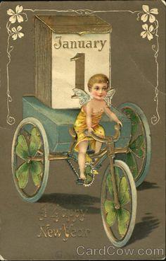 A Happy New Year Angels & Cherubs, 1907