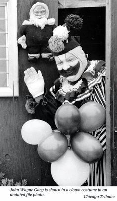 "Serial Killer John Wayne Gacy dressed as his alter ego ""Pogo The Clown"" John Wayne Gacy, It Pennywise, Judy Garland, Dean Martin, Ranbir Kapoor, Cillian Murphy, Hrithik Roshan, Michael Fassbender, Shahrukh Khan"