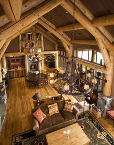 Small cabin interior ideas small rustic cabin interior ideas small rustic cabin interiors small cabin interior design ideas log home Log Cabin Living, Small Log Cabin, Log Cabin Homes, Log Cabins, Log Cabin Kitchens, Mountain Cabins, Rustic Cabins, Cottage Living, Cabin Interior Design