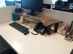 walnut wood, handmade, DIY,office decoration, monitor stand