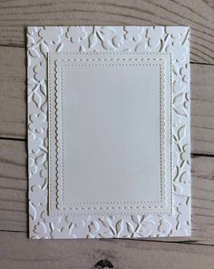 white on white card base from   the CottageBLOG ... die cut and embossed layers create lots of texture ... framing for focal emage .. All White, Layers, Base, Texture, Create, Cards, Home Decor, Layering, Surface Finish
