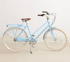 Cruise around on this baby blue bike.
