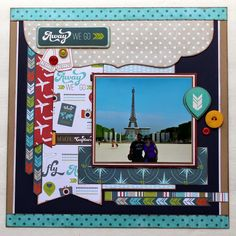 What a great layout! Get the look with Imaginisce Perfect Vacation, on sale today at Blitsy!