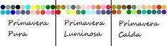 Moda per principianti: Armocromia: analisi dei colori Palette della donna primavera