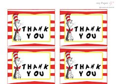 {free} printable Dr Seuss thank you cards