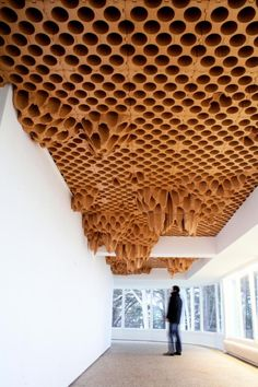 Unique and Unusual Ceiling Design Ideas Unique and Unusual Ceiling Design Ideas is a part of our design inspiration series. Design inspirational series is a weekly showcase of incredible furniture designs from all around the world. Parametric Architecture, Parametric Design, Architecture Details, Interior Architecture, Interior Design, Plafond Design, Ceiling Treatments, Acoustic Panels, Acoustic Ceiling Tiles