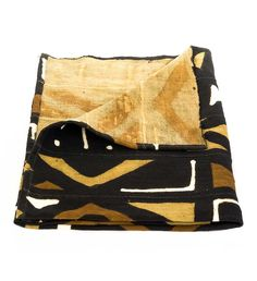 Hand-Dyed African Mudcloth Blanket - Home Decor Handmade in Africa - Swahili Modern - 3