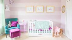 This nursery doesn't play it safe with the color palette and it totally pays off! #nursery #video
