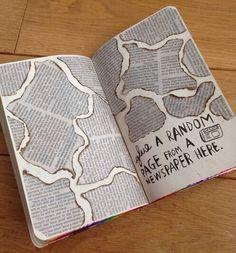 wreck this journal Album Journal, Bullet Journal Notebook, Bullet Journal Ideas Pages, Scrapbook Journal, Bullet Journal Inspiration, Art Journal Pages, Journal Ideas Tumblr, Journal Quotes, Journal Cards