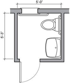 Bathroom floor plans small half bathrooms and floor plans for Bathroom ideas 5x5