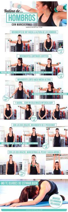 Rutina de hombros con mancuernas paso a paso | GYM VIRTUAL #pilatesparabrazos