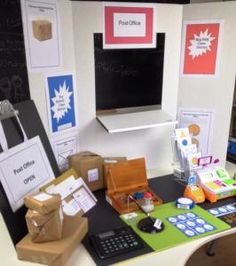 This activity reinforces literacy, numeracy, and social skills through a post office game and related activities. Post Office Game, People Who Help Us, Literacy And Numeracy, Classroom Setting, Eyfs, Social Skills, Preschool Activities, Teaching, Cross Curricular
