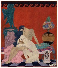 Vintage et cancrelats: George Barbier : Les chansons de Bilitis