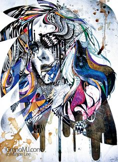 reminiscence,Portrait Painting Artist Study Minjae Lee ,Resources for Art Students, CAPI ::: Create Art Portfolio Ideas at milliande.com , Inspiration for Art School Portfolio, Portrait, Painting, Figure, Faces, Mixed Media, Head, Expression, Art Teacher