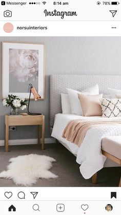 Bedroom design ideas,bedroom decor ideas,grey and pink bedroom Home Decor Apartment bedroom gray and gold bedroom grey and rose gold bedr. Small Apartment Bedrooms, Apartment Bedroom Decor, Bedroom Décor, Bedroom Lamps, Peach Bedroom, Bedroom Colors, Small Rooms, Bedroom Chandeliers, Grey And Gold Bedroom
