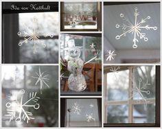 Mit Seife werden tolle Wintermotive an Fenster gezaubert - Idas Bloghaus
