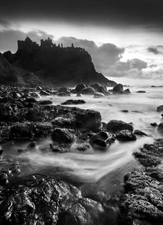 Dunluce Castle is one of the most extensive ruins of a medieval castle on the island of Ireland.