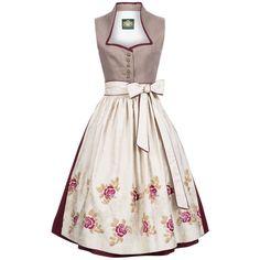 Langes Dirndl Moorsee in Beige von Hammerschmid in Kleidung & Accessoires, Damenmode, Trachtenmode | eBay