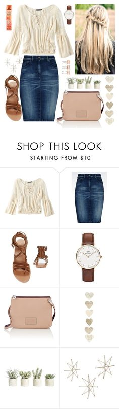 """""""Untitled #142"""" by sarahgriffis ❤ liked on Polyvore featuring American Eagle Outfitters, Armani Jeans, Ancient Greek Sandals, Daniel Wellington, Marc by Marc Jacobs, Allstate Floral and Uttermost"""