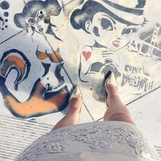I have a thing for street art, and leather, lace, and gold!