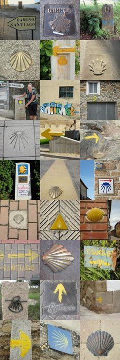 Excellent Guide to the camino Camino de Santiago. Invariables de señalización // Invariable del turismo cultural.