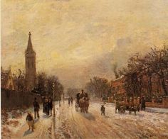 """FCBTC / 1871 - """"ALL SAINTS' CHURCH, UPPER NORWOOD"""" by   Camille Pissarro"""