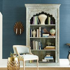 Love the detailing on this bookcase.  Perhaps another DIY idea for some of my bookcases.