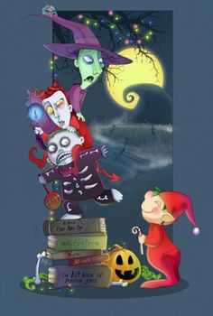 the nightmare before christmas   barrel, deviant art, elf, lock, shock, the nightmare before christmas